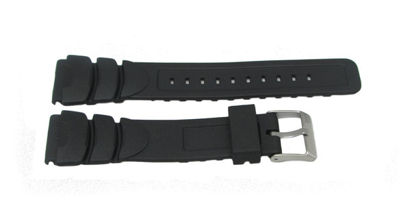 Pulsar Black Rubber Watch Band 20mm PZ037X