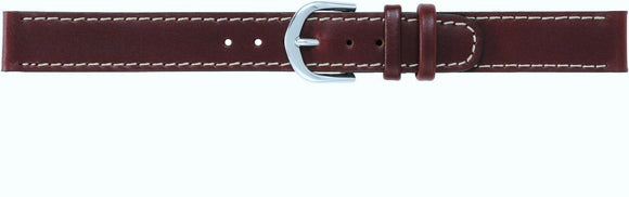 Timex Ladies 14mm Brown Stitched Oilskin Leather Watch Band Q7B854