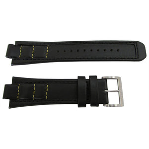 Seiko 4K28JB 26mm Black Leather Watch Band