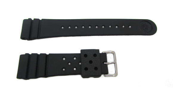 Seiko Black Rubber Diver's Watch Band