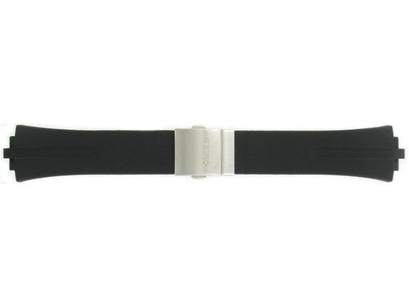 Seiko Black Rubber Men's Watch Band