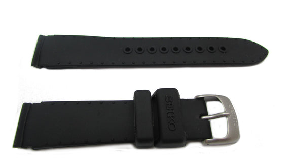 Seiko Black Silicone Watch Band