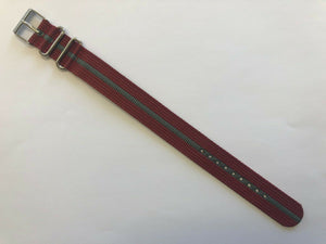 Timex Weekender ONE PIECE T2N653 20mm Watch Band Red with Gray