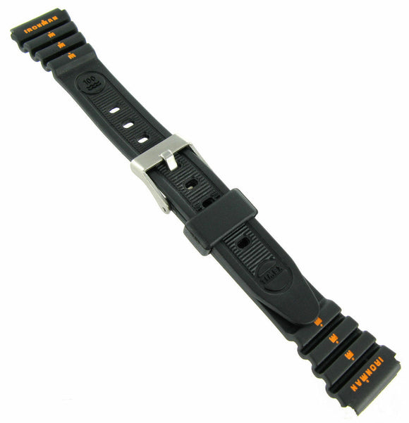 15mm Timex Black Watch Band for Vintage Ladies Ironman Triathlon TX382111