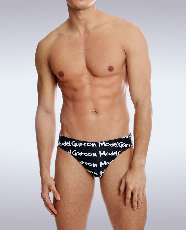 Black Graffiti Swim Brief - Garçon Underwear sexy men's underwear Swim Brief Garçon Underwear