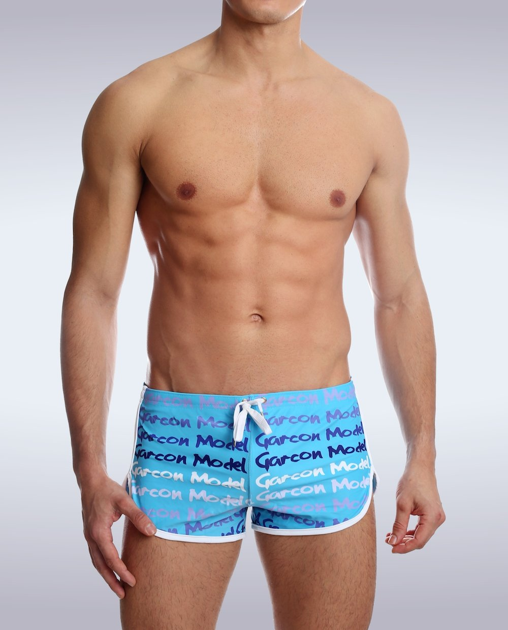 Blue Graffiti Swim Short - Garçon Underwear sexy men's underwear Swim Short Garçon Underwear