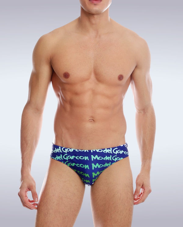 Navy Graffiti Swim Brief - Garçon Underwear sexy men's underwear Swim Brief Garçon Underwear