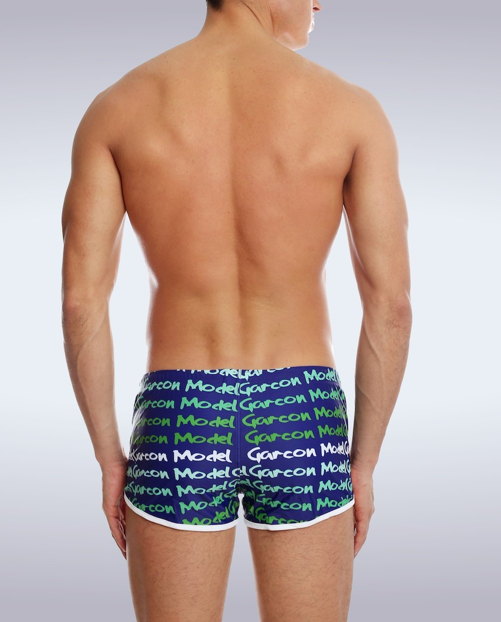 Navy Graffiti Swim Short - Garçon Underwear sexy men's underwear Swim Short Garçon Underwear