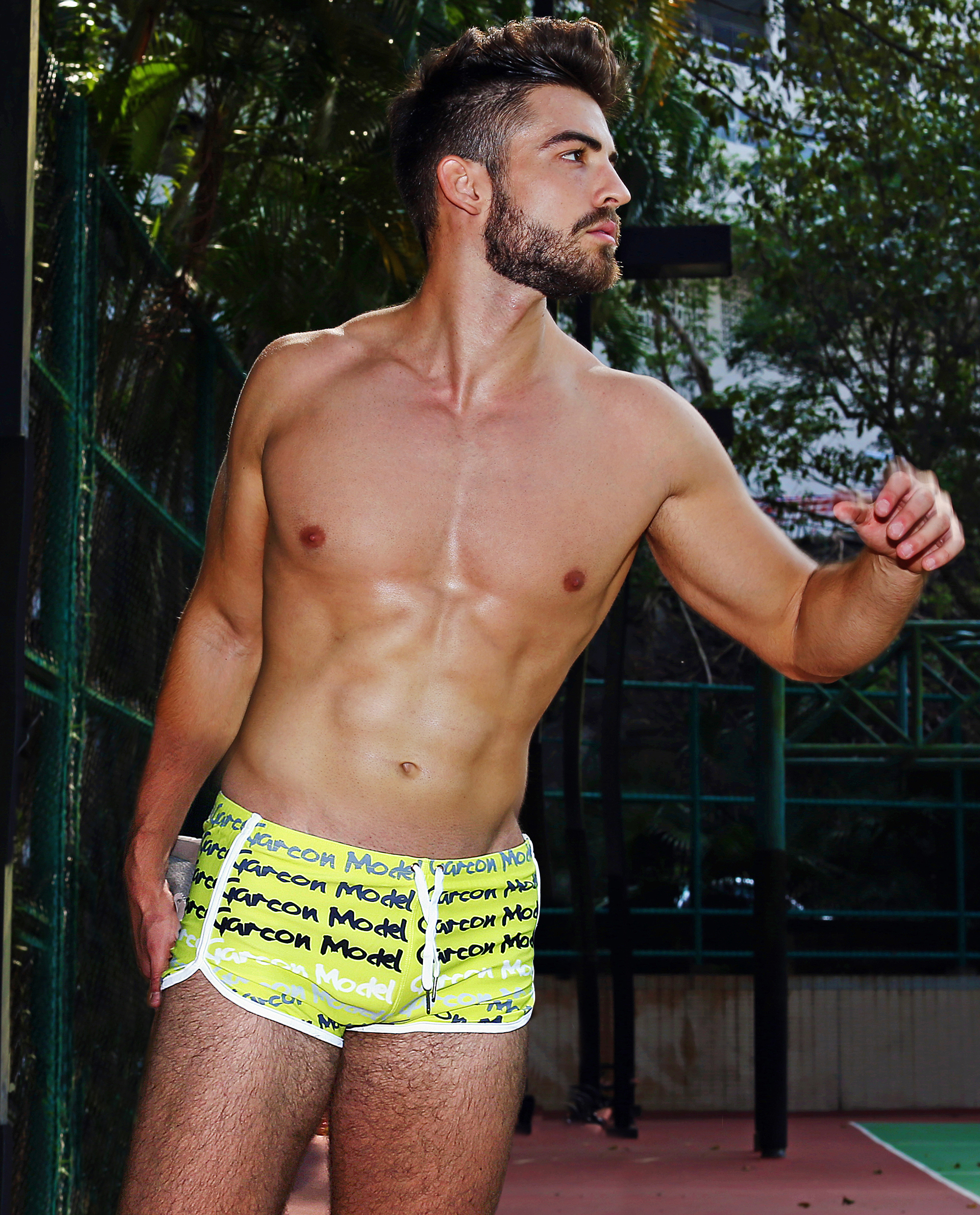Yellow Graffiti Swim Short - Garçon Apparel