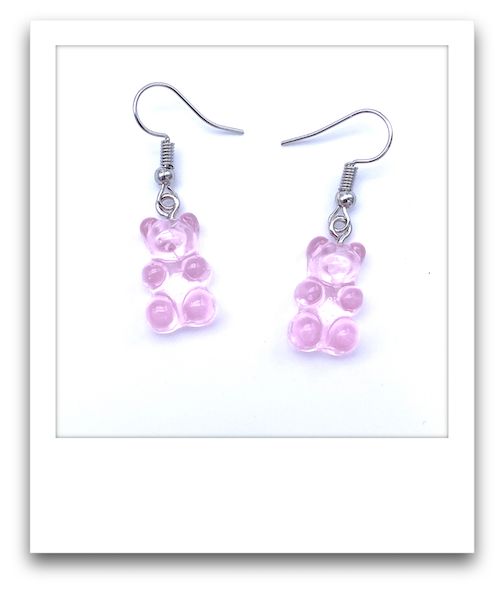 Pair of Gummy Bear Earrings  |  Pink