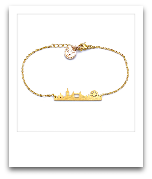London Skyline Bracelet  |  Gold