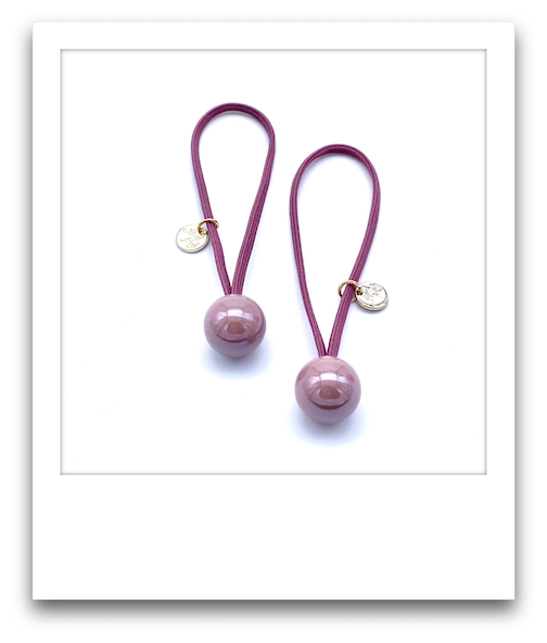 Pair of Hair Tie Bobbles  |  Pink