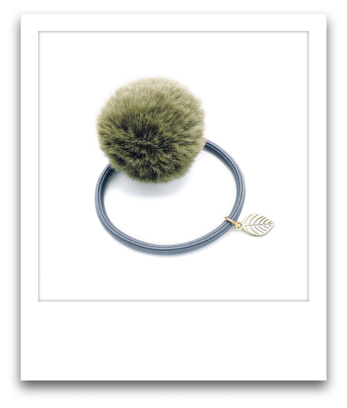 Pom Pom Hair Tie  |  Green