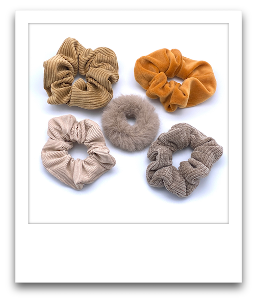 Pack of 5 Scrunchies  |  Earthy Tones