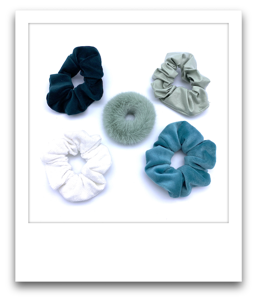 Pack of 5 Scrunchies  |  Greens