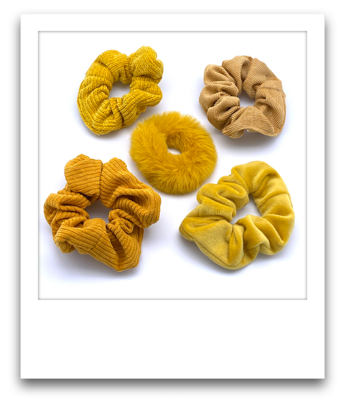 Pack of 5 Scrunchies  |  Yellows