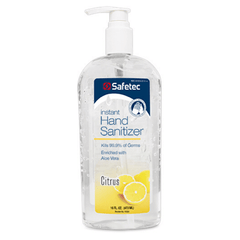 Safetec Hand Sanitizer Citrus, 16 oz. pump bottle