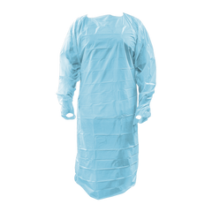 Blue Fluid Isolation Gowns with Thumb Loops (75 Gowns/Case)