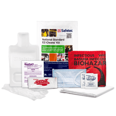 Safetec National Standard EZ-Cleans® Kit (Poly Bag) (24 kits/case) - Nickel City Innovations, Inc.