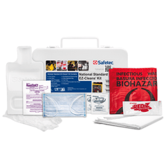 Safetec National Standard EZ-Cleans Kit (Hard case) (12 kits/case) - Nickel City Innovations, Inc.