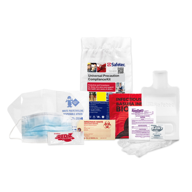 Safetec Universal Precaution Compliance Spill Kit Refill (Poly Bag) (available in a variety of bundled options)