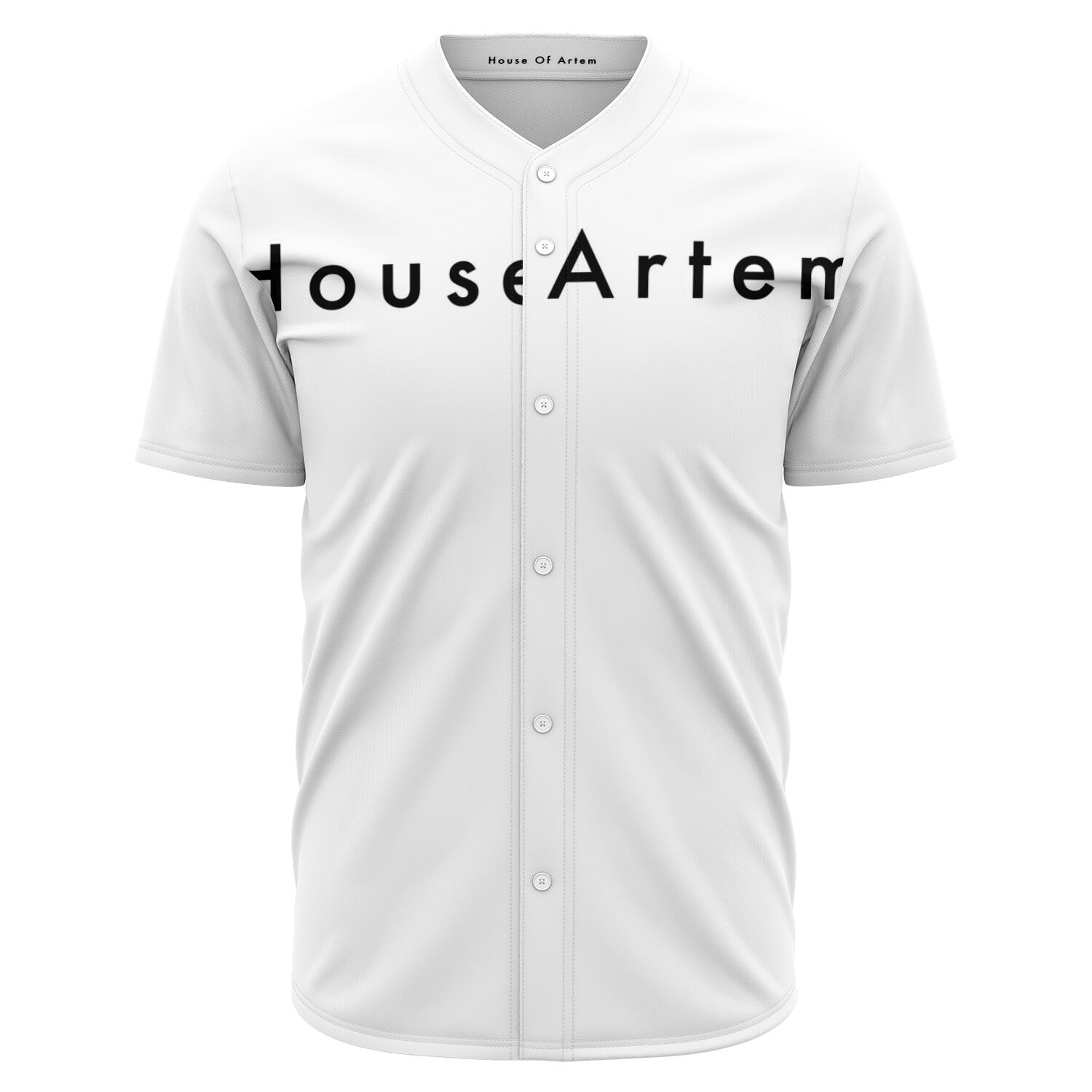 House Of Artem Original White Baseball Jersey