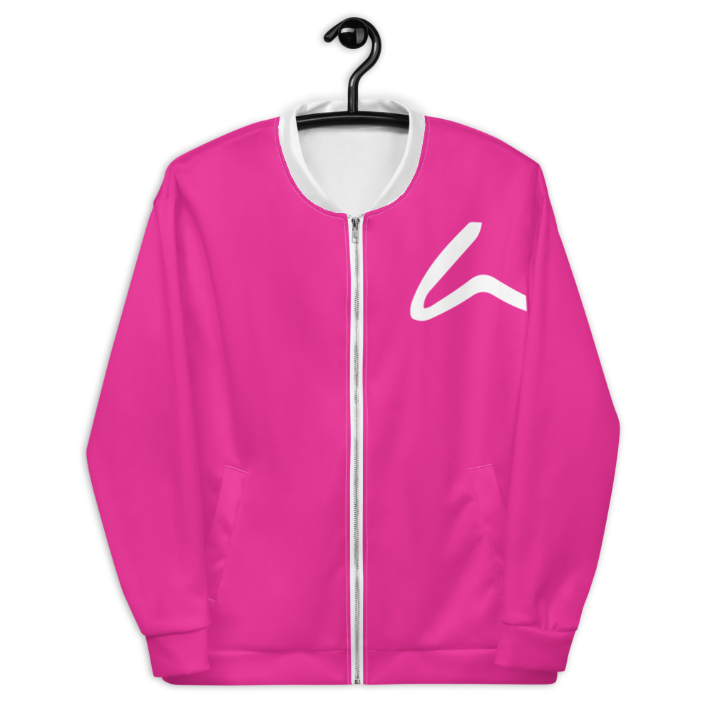 House Of Artem Classic ''80s'' Pink Bomber Jacket