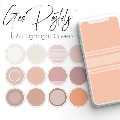Geometric Pastels - 55 Instagram Highlight Covers