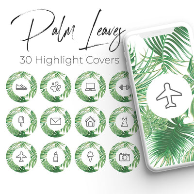 Palm Leaves Pack - 30 Instagram Highlight Covers