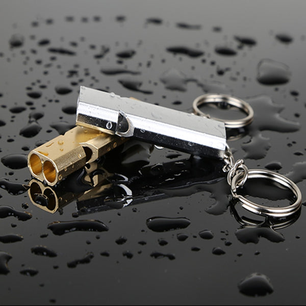Stainless Steel Double Tube Safety Whistle