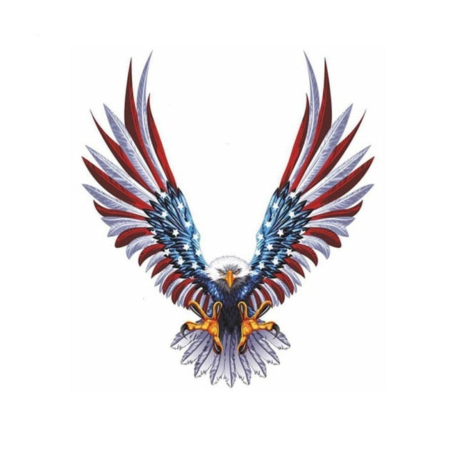 Bald Eagle American Flag Sticker/Decal