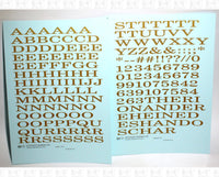 Extended Roman Letter Number Alphabet - Decal - Choose Size and Color