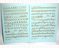 Lindenhill Letter Number Alphabet - Decal - Choose Size and Color