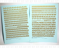 Mid Century Gothic Letter Number Alphabet - Decal - Choose Size and Color