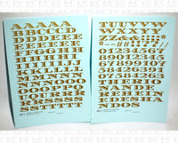 Money Letters Letter Number Alphabet - Decal - Choose Size and Color