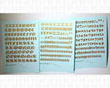 Old English Bible Letter Number Alphabet - Decal - Choose Size and Color