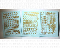 Railroad Roman Letter Number Alphabet - Decal - Choose Size and Color