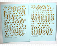 Wide Roman Letter Number Alphabet - Decal - Choose Size and Color