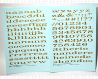 Lowercase Wide Roman Letter Number Alphabet - Decal - Choose Size and Color