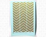 30 Degree Diagonal Barricade Stripes - Decal - Choose Size and Color