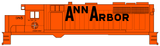 Ann Arbor Diesel Locomotive Black - Decal