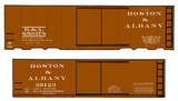 Boston and Albany 36 Or 40 Ft Boxcar White - Decal