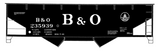 Baltimore and Ohio Offset Twin Hopper White  - Decal