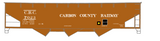 Carbon County Railway Three Bay Hopper White Utah - Decal