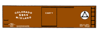 Colorado Midland 34 Ft Boxcar White - Decal