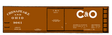 Chesapeake and Ohio 36 Ft Wood Boxcar White C&O - Decal
