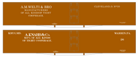 Welti & Bro, A. Knabb 60 Ft Wood Cooperage/Barrel Boxcar White - Decal