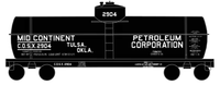 Mid-Continent Petroleum Tank Car White - Decal