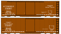 Charleston and Western Carolina 40 Ft Boxcar White - Decal