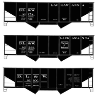 Delaware, Lackawanna and Western Twin Hopper Car White DL&W - Decal